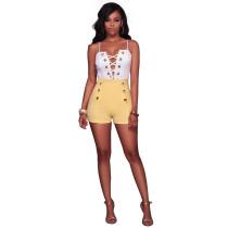 Kurz geschnittene Shorts mit hoher Taille 24797-10
