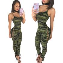 Camouflage-Trägern mit seitlichem Schnür-Design-Overall 24583