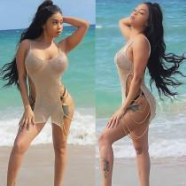 Kadın Tığ Sapanlar Plaj Cover Up 24727