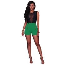 Kurz geschnittene Shorts mit hoher Taille 24797-3