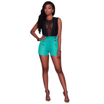 Kurz geschnittene Shorts mit hoher Taille 24797-6
