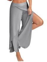 Solid Slit Harem Yoga broek 25338-2