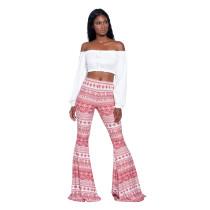 Calça Feminina Boho Estilo Flared Pants 25134-4