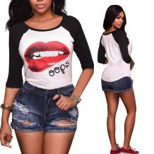 Moda Rasgou Buraco Hot Denim Shorts 25802