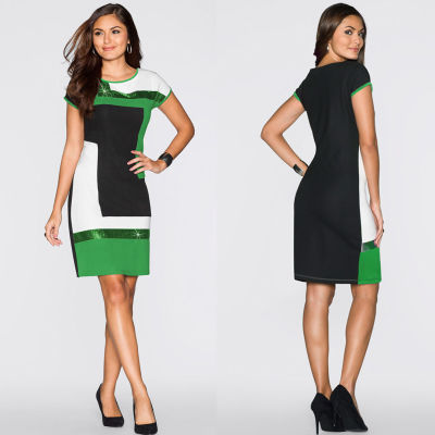 Элегантные блестки цветастого платья 26559-1