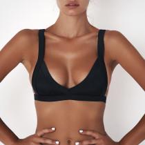 Top de bikini sexy en color liso Breif 26371-1