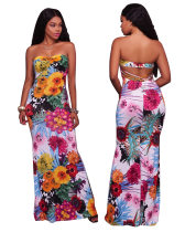 Little Back Sexy Sweetheart Floral Long Dress 26459-2