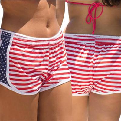 Pantaloncini da spiaggia con bandiera americana 26163