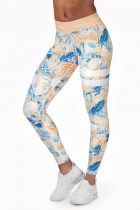 Overal Print Fitness Leggings 26444-1