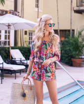 Off-Shoulder Floral Top and Shorts 26402