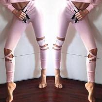 Розовый вырез с ногами с шнурами Талия 26584