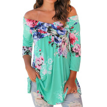 Open Shoulder Sexy Floral Top 26393-4