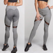 Sexy Patchwork Fitness Pants 26253-2