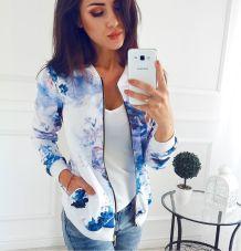 Casacos florais brancos e azuis 27124-1