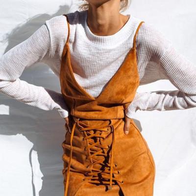 Vestimenta casual con cordones de terciopelo con cordones