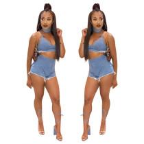 Short en jean sexy avec taille haute et short taille haute 26660