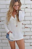 Long Sleeves Side Split Knitting Tops 26782-3