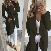 Langer unregelmäßiger grüner Mantel 26718-3
