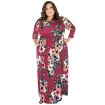 Vestido maxi floral de tallas grandes 27029-7
