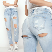 Young Fashion Washed Cut-Out Jeans 26891