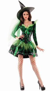 Sexy Green Witch Costume for Halloween  27417