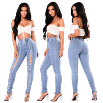 Lace-Up Sexy Washing Jeans 27568