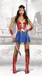 Sexy Super Hero Frau Kostüm 27404
