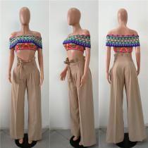 Loose Cut High Waist Sheer Trousers 27302-3