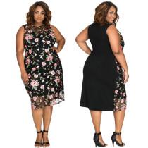 Schwarzes Kleid in Übergröße