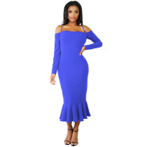 Under-Knee Straps Party Dress with Fishtail 27532-3