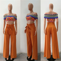 Loose Cut High Waist Sheer Trousers 27302-4