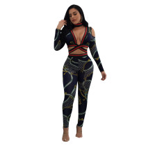 Chains Print Sext Crop Set 27632-3