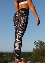 Weiße und schwarze Sexy Fitness Yoga Hose 27825