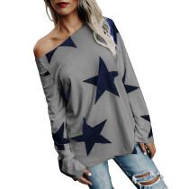 Gri ve Mavi Yıldız Gömlekler 27533-3