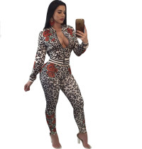 Leopard Print Jacket and Pants 27868-2