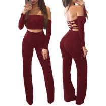 Haut à bretelles et pantalons sexy à lacets 27784-5