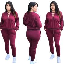Sexy vetvrije hoodie en broek 28383-5