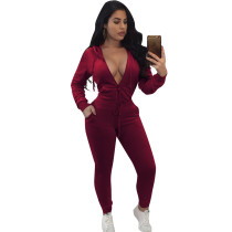 Red Tracksuit with Sleeves 28100-4