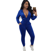 Blue Tracksuit with Sleeves 28100-2