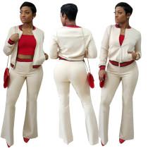 Jersey e pantaloni lunghi con bordi a contrasto 28313-2
