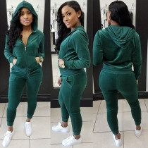 Green Tracksuit with Sleeves 28100-3