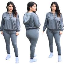 Sexy vetvrije hoodie en broek 28383-2