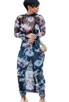 Langes Blumen-reizvolles Kleid