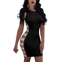 Sexy Aushöhlen Pailletten Kleid 28348-1
