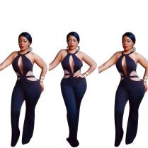 Cut-Out Sexy Black Jumpsuit