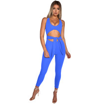 Sexy Cut Out Wide Straps Jumpsuit 28442-2