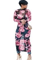 Vestido largo flor sexy