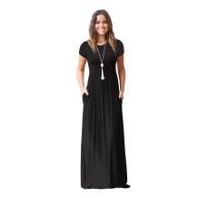 Платье с коротким рукавом Maxi с карманами
