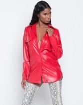 Sexy PU-blouse