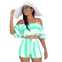 Holiday Stripes - Kurzes Oberteil und Shorts